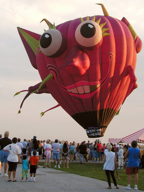 Purple People Eater Hot Air Balloon