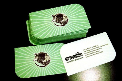Armadillo Business Cards