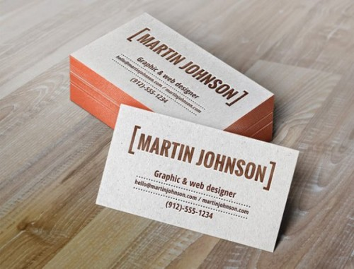 Business Card Design With Letterpress