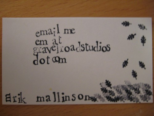 Business Card by Erik Mallinson