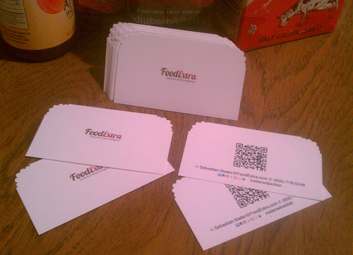 Business Card for FoodExtra