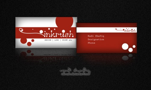Business Card sample red