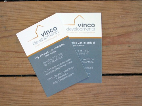 Business Cards Vinco Developments