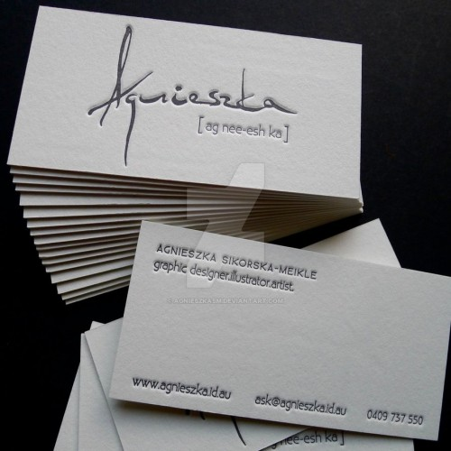 Fantastic Letterpress Business Card