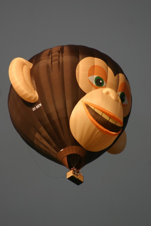 Hot-air Balloon Monkey Special Shape