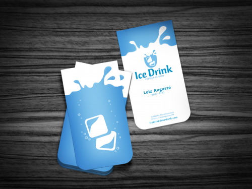 Ice Drink - Business Card by muriloVM
