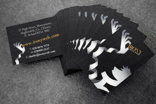 Irony Metal Works Business Card