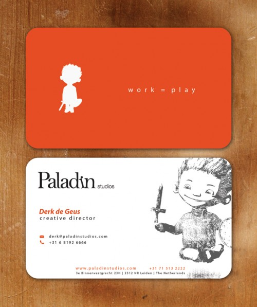 Paladin Studios Business Card