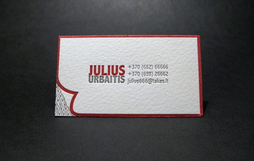 Personal Red and White Business Card