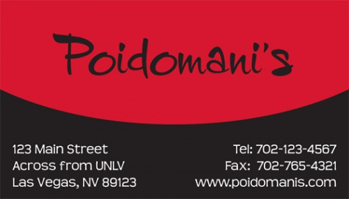 Poidomani's Business Card