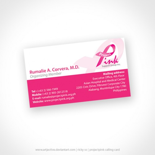 Project Pink Calling Card