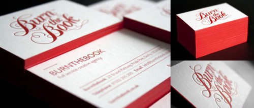 Red Edge Letterpress Business Cards
