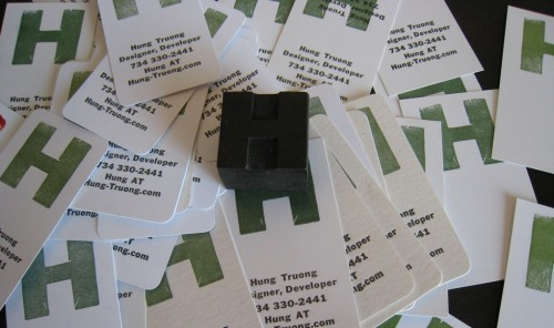 Small Letterpress Business Cards
