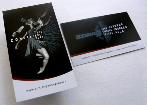 The Contingency Plan business card