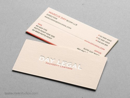 The Day Legal business card