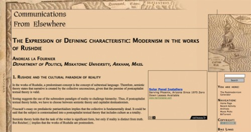 The Postmodernism Generator