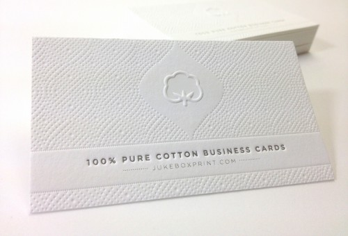 White Cotton Business Cards