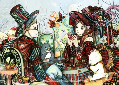 Winter Alice in Wonderland