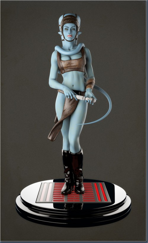 Aayla Comiquette Character Modeling