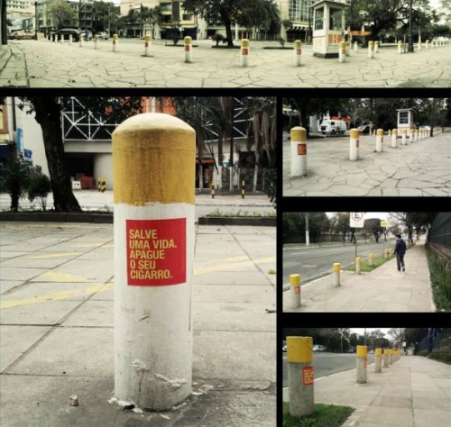 Anti-Smoking Street poles