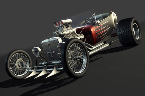 Creating a Next-Gen Video Game Hot Rod the Complete Workflow