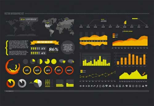 Free Vector Infographic Kit