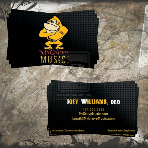 MyGruveMusic Business Cards