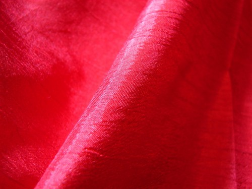 Red Silk Fabric Texture 2
