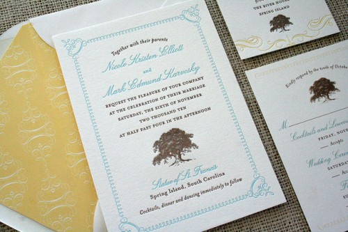 Spring Island Wedding Invitation