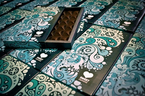 Sweet Content Chocolate Packaging Design