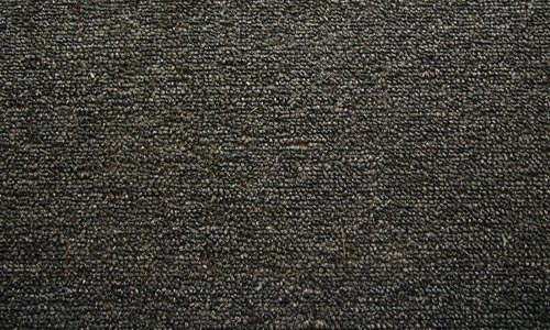 tightly woven black carpet