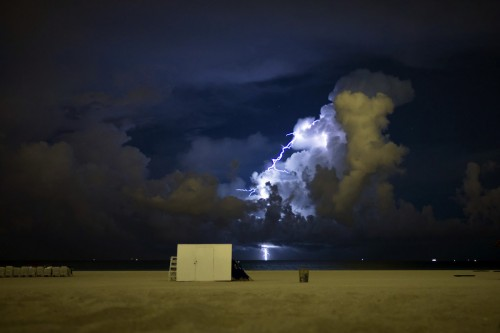 Lightning Over South Beach