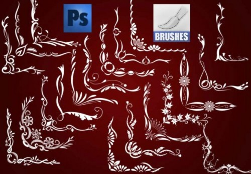 20 Corners Brushes for Photoshop