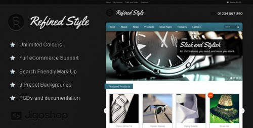 Refined Style - Jigoshop eCommerce Theme