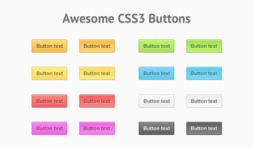 Create Some Awesome CSS3 Buttons