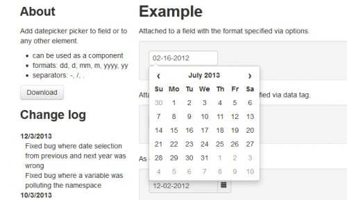 Datepicker for Bootstrap