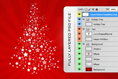 Free Holiday Background Psd Files