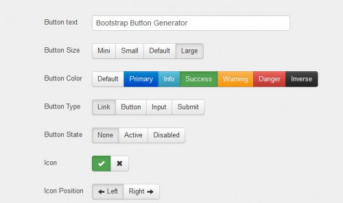 Twitter Bootstrap Button Generator