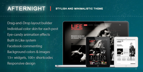 Afternight - Stylish Minimalist Responsive Theme
