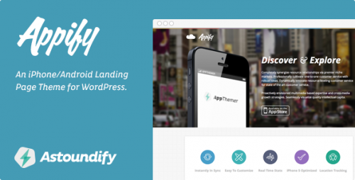 Appify - iPhone, Android App Landing Page Theme