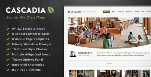 Cascadia - Business & Corporate WP Theme