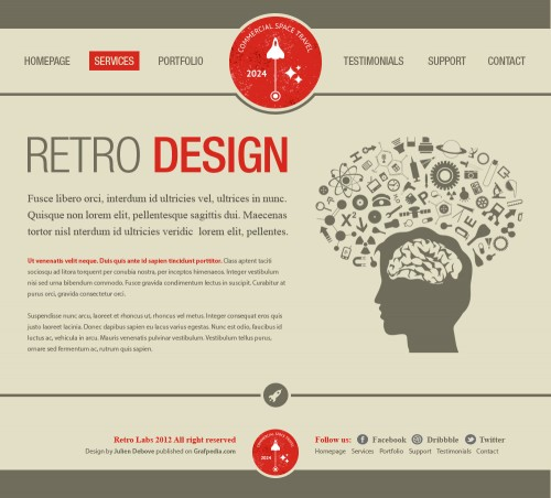 Design A Vintage Portfolio Layout