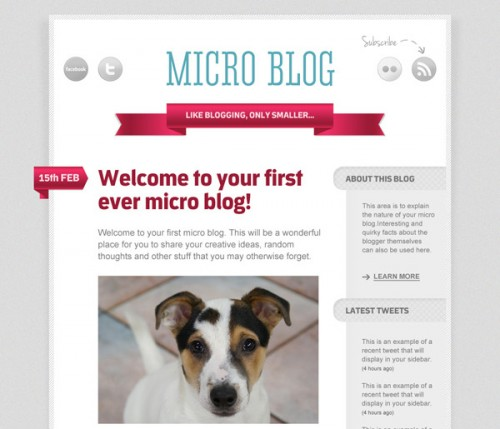 Design a Code Ready Micro Blog Layout