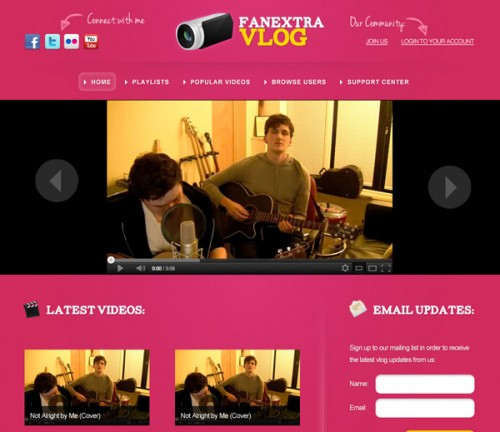 Design a Colorful Vlogging Web Layout