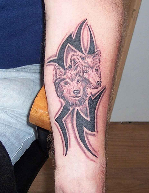 Shaded Tribal with Wolfs
