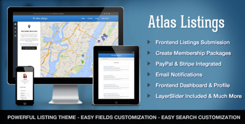 Atlas Directory & Listings Premium WP Theme