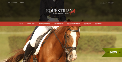Equestrian WordPress Theme