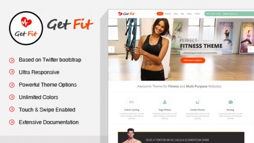 GetFit - Gym Fitness Multipurpose WP Theme