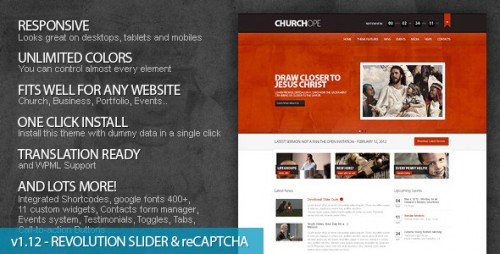 ChurcHope - Responsive WordPress Theme
