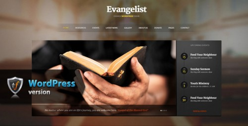 Evangelist - Church WordPress Theme